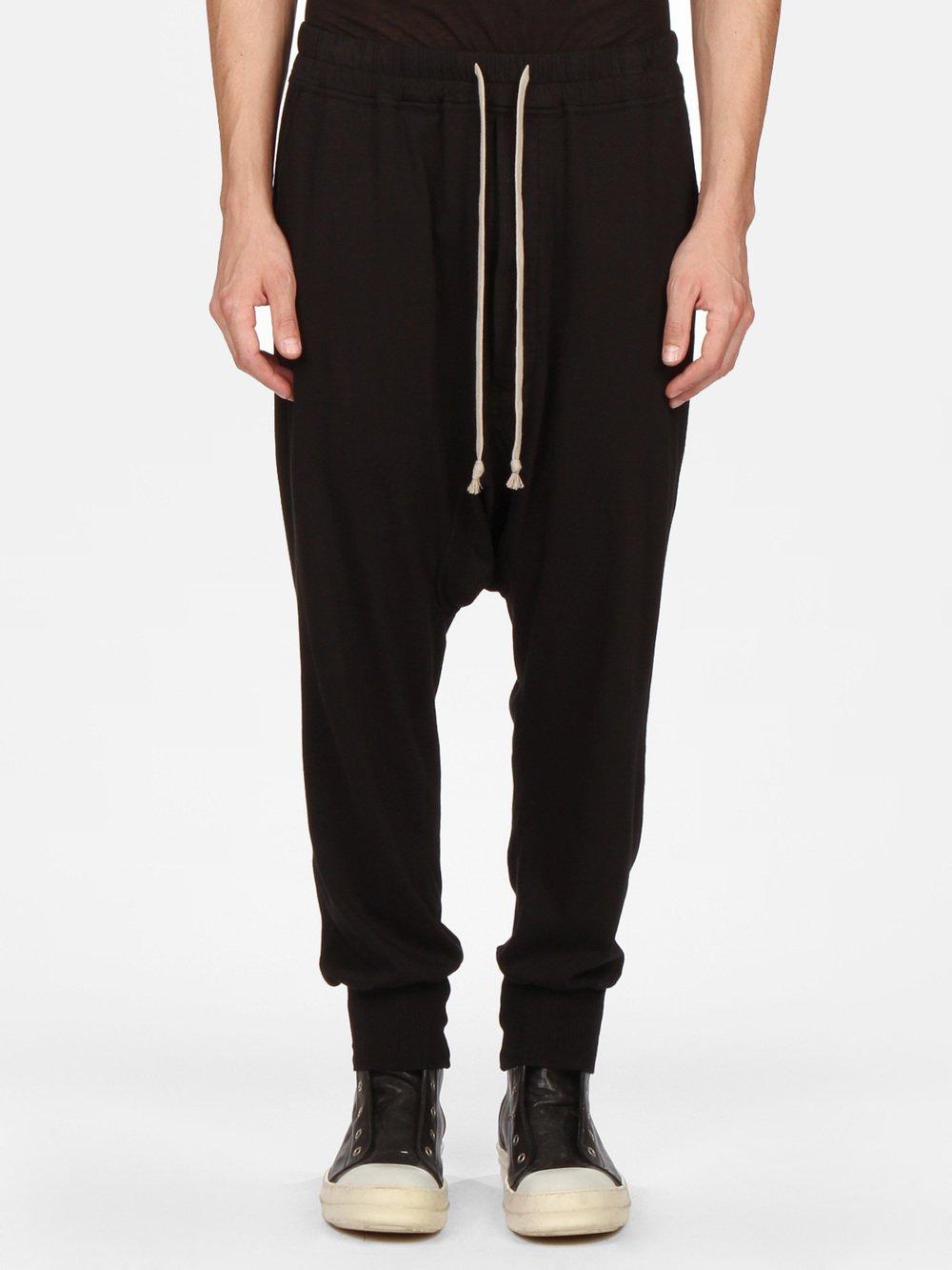 Pantalon Long Piste Cordon De Serrage - Noir Rick Owens 1AwxQm