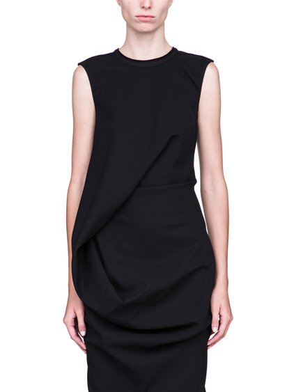RICK OWENS FW18 SISYPHUS ELLIPSE DRESS IN BLACK