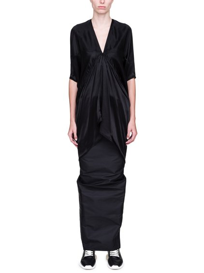RICK OWENS FW18 SISYPHUS KITE TUNIC IN BLACK
