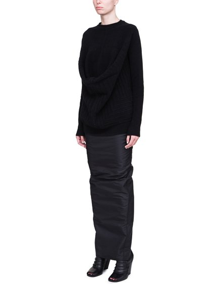 RICK OWENS FW18 SISYPHUS PELICAN TOP IN BLACK