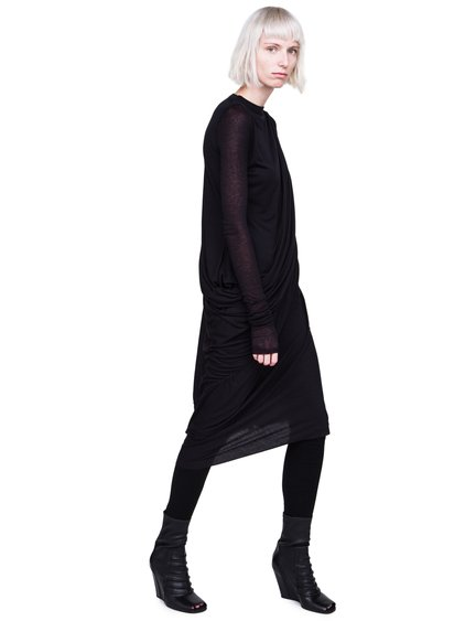 RICK OWENS LILIES FW18 SISYPHUS DRESS IN BLACK