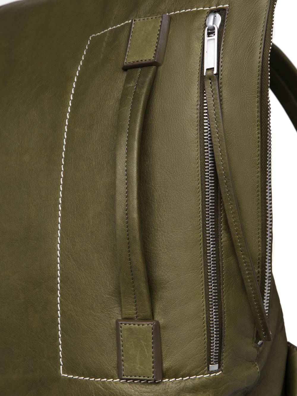 RICK OWENS FW18 SISYPHUS DUFFLE BACKPACK IN DIRTY GREEN CALF LEATHER