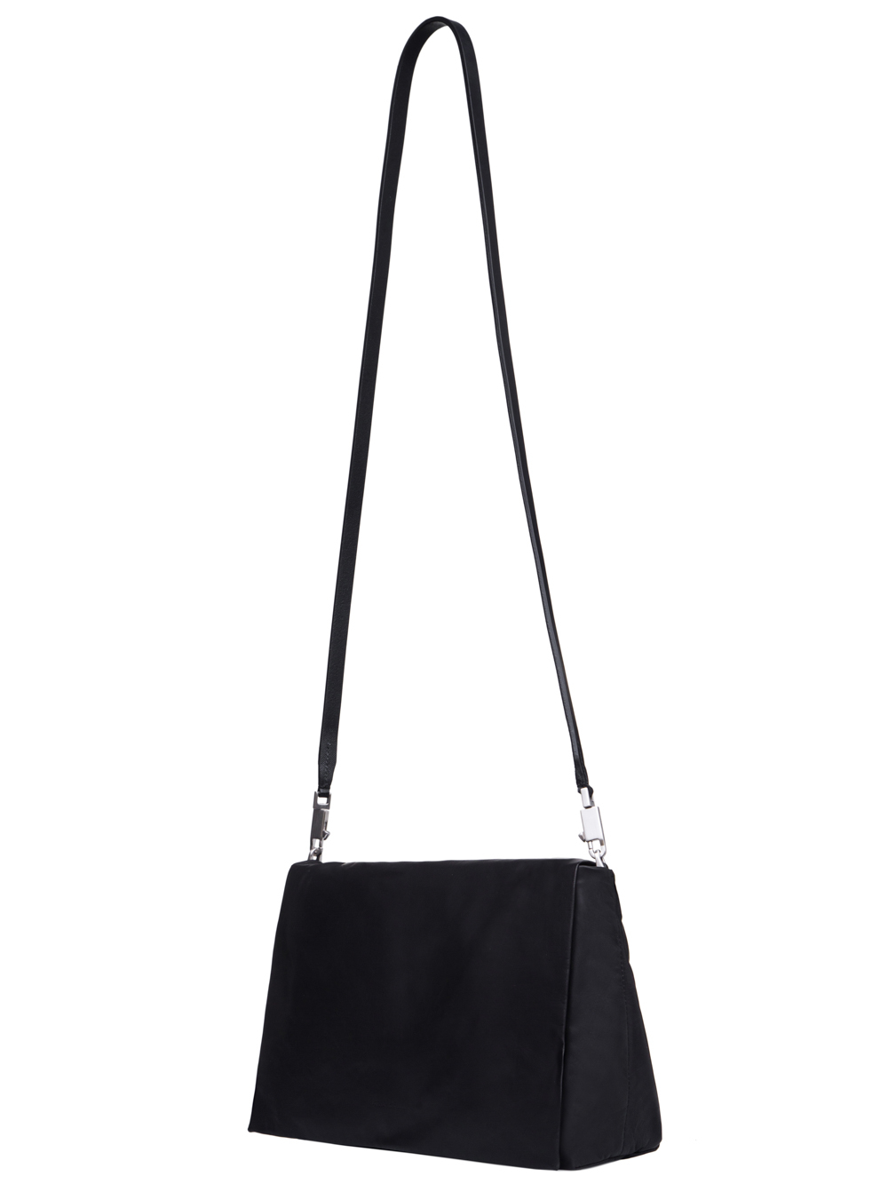RICK OWENS FW18 SISYPHUS MEDIUM FLAP ADRI BAG IN BLACK BABY CALF LEATHER