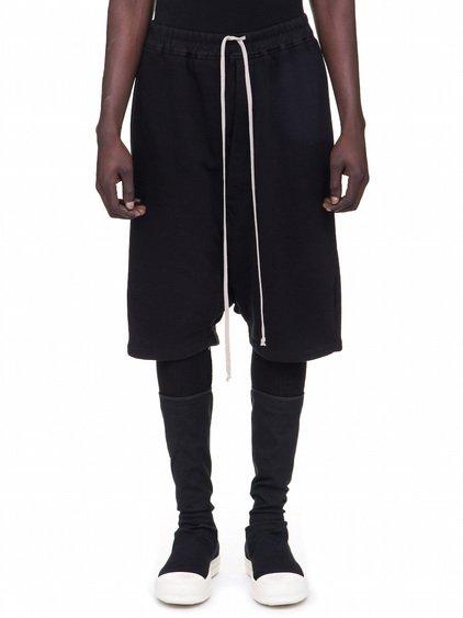 DRKSHDW FW18 SISYPHUS PODS IN BLACK HEAVYWEIGHT COTTON JERSEY
