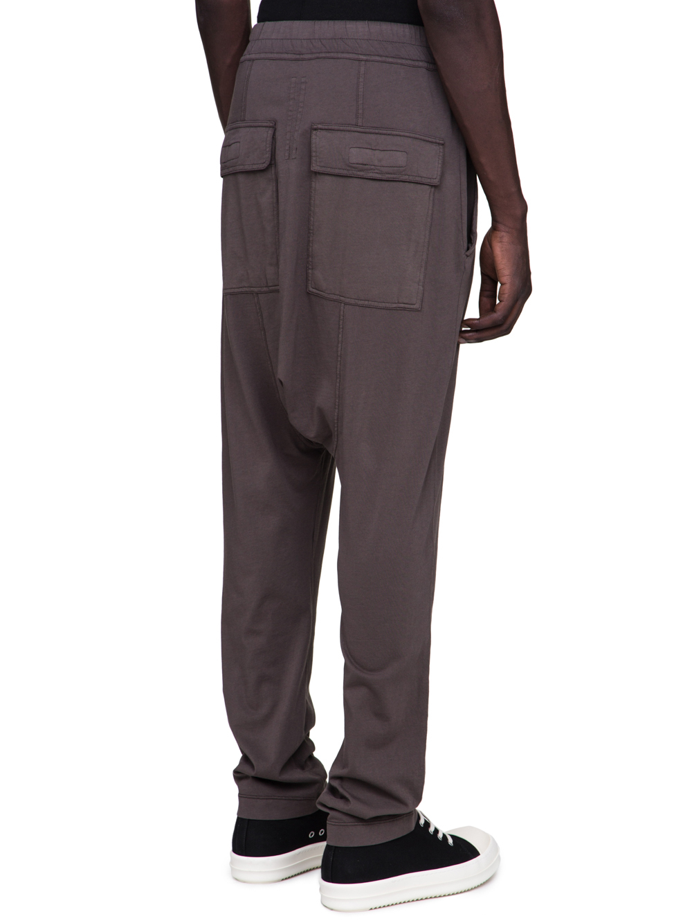 DRKSHDW FW18 SISYPHUS DRAWSTRING LONG PANTS IN DARKDUST GREY