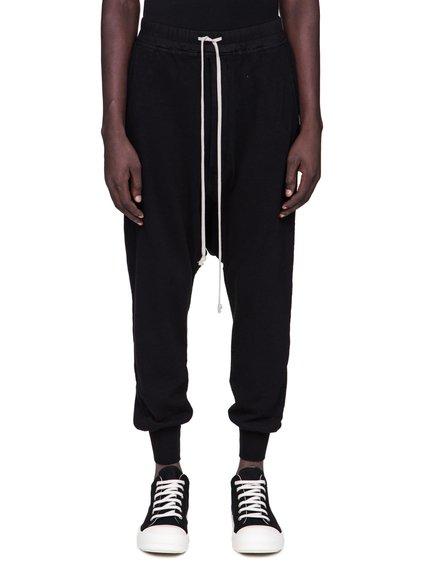 DRKSHDW FW18 SISYPHUS PRISONNER DRAWSTRING PANTS IN BLACK MEDIUMWEIGHT COTTON