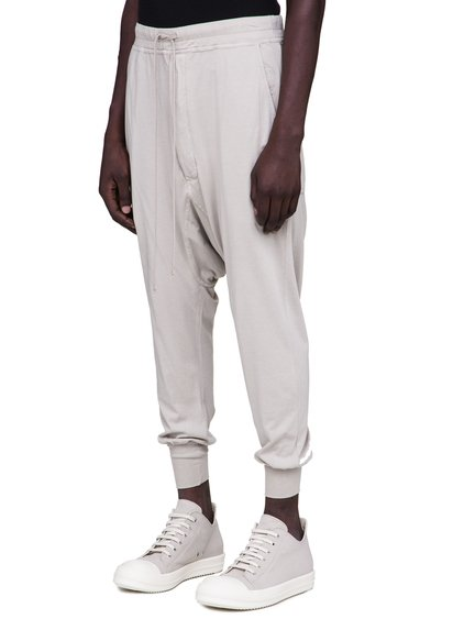 DRKSHDW FW18 SISYPHUS PRISONNER DRAWSTRING PANTS IN PEARL BEIGE