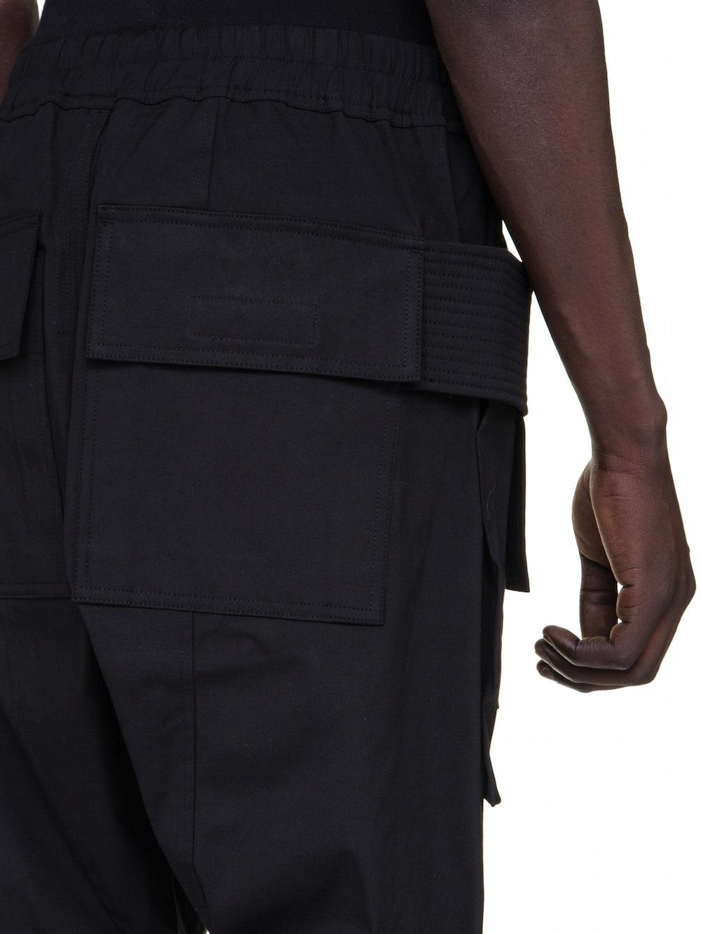 DRKSHDW FW18 SISYPHUS CREATCH CARGO PANTS IN BLACK