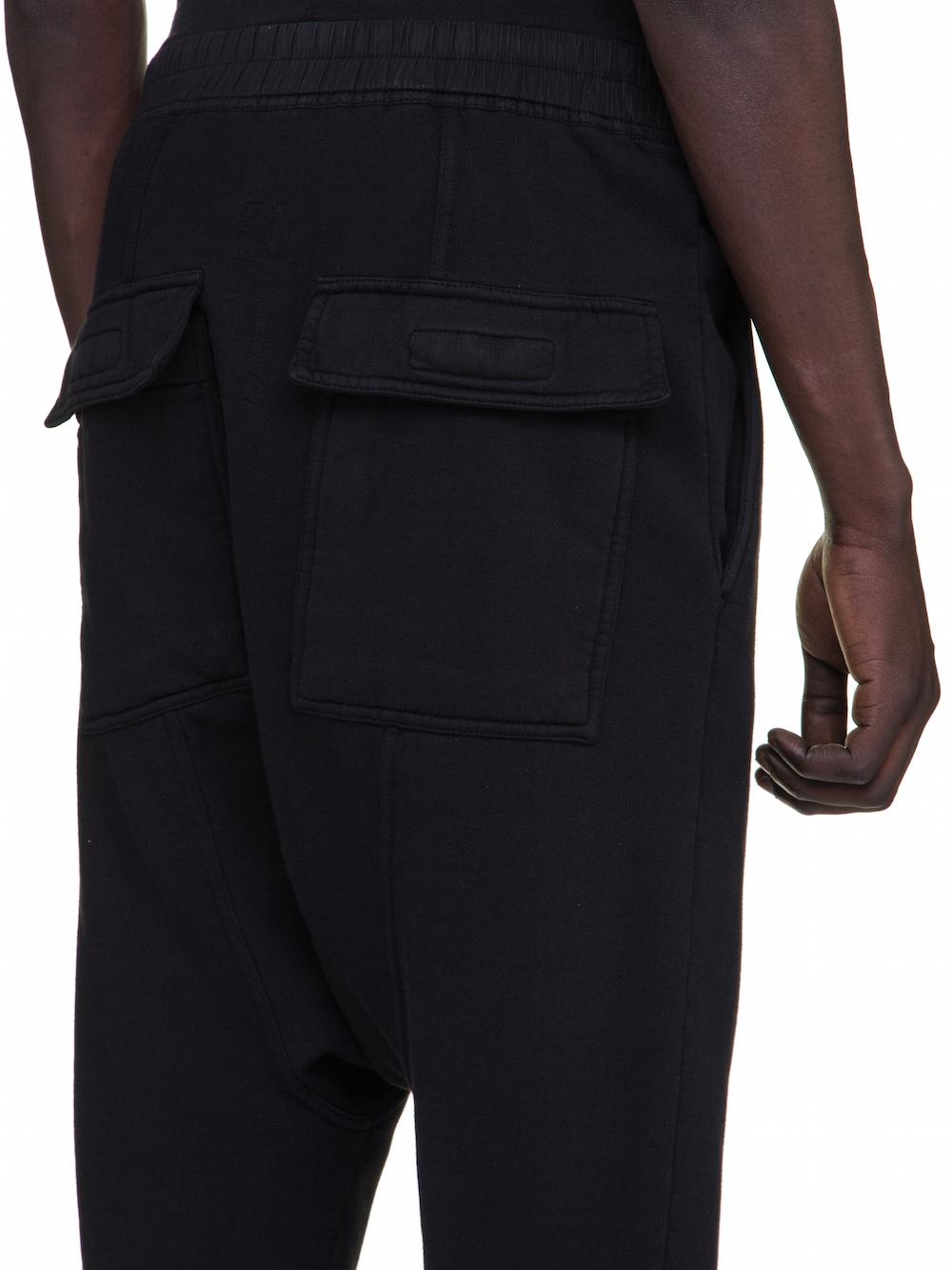 DRKSHDW FW18 SISYPHUS DRAWSTRING CROPPED PANTS IN BLACK