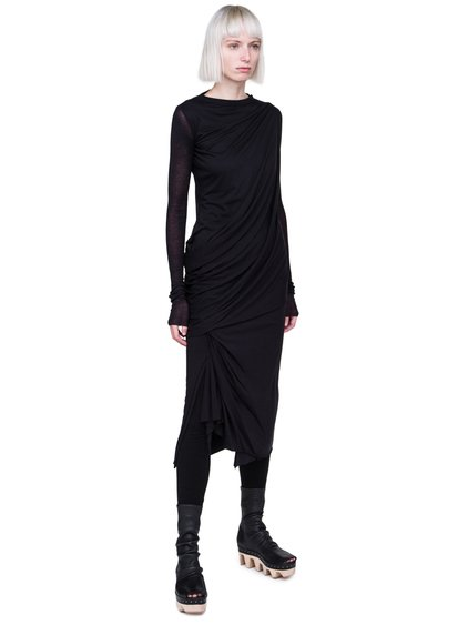 RICK OWENS LILIES FW18 SISYPHUS LONG SLEEVE T-SHIRT IN BLACK