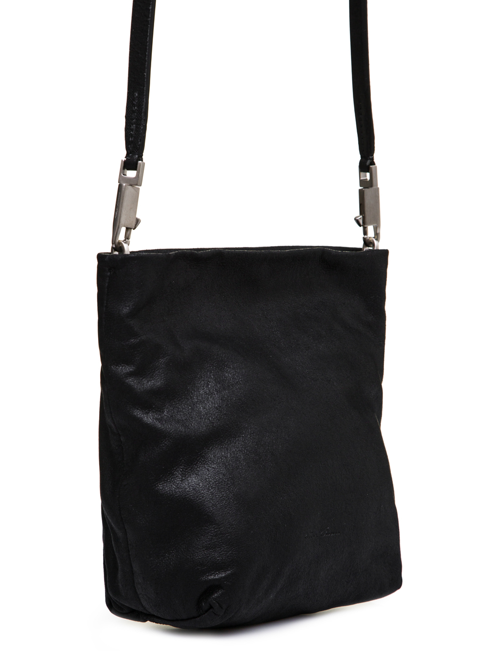 RICK OWENS FW18 SISYPHUS SMALL ADRI BAG IN BLACK OILY BLISTER LAMB LEATHER