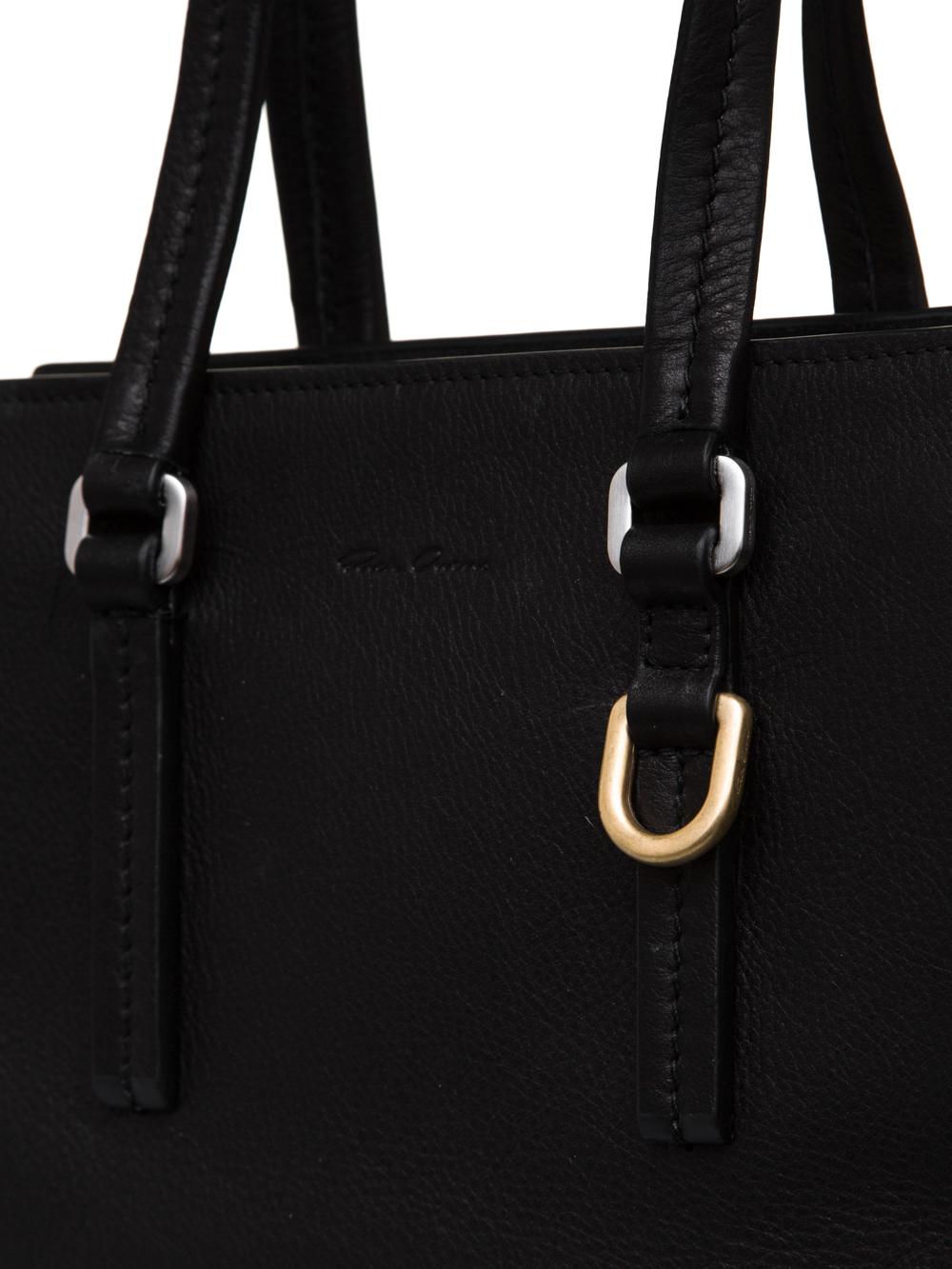 RICK OWENS FW18 SISYPHUS MICRO EDITH BAG IN BLACK CALF LEATHER