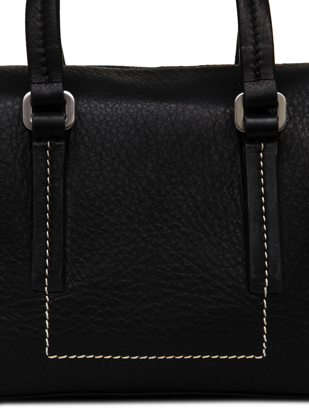 RICK OWENS FW18 SISYPHUS BABY BAG IN BLACK LAMB LEATHER