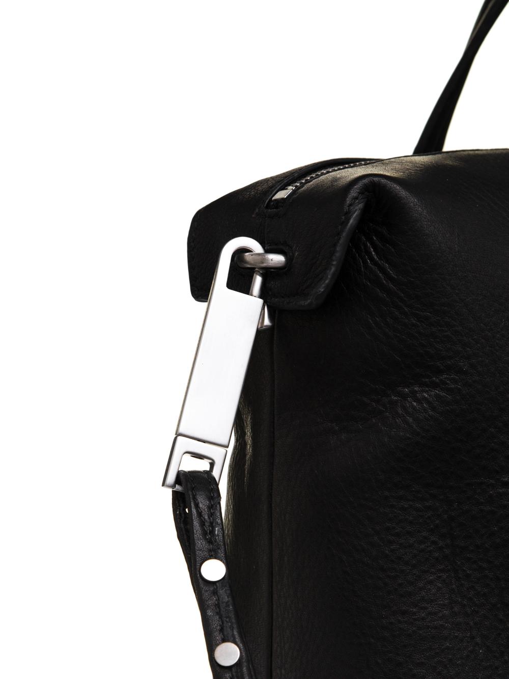 RICK OWENS FW18 SISYPHUS DAYBAG IN BLACK LAMB LEATHER