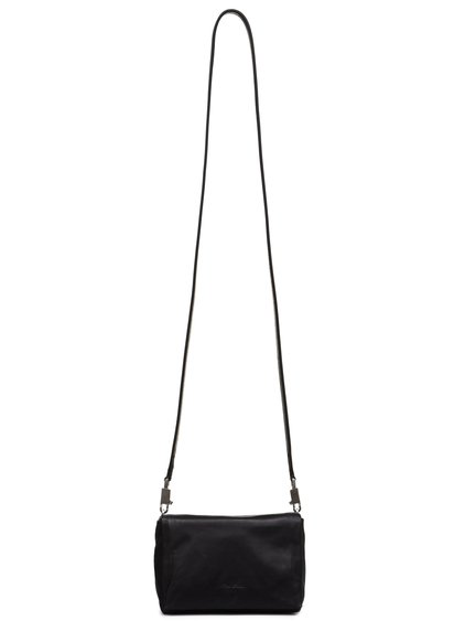 RICK OWENS FW18 SISYPHUS MICRO FLAP ADRI BAG IN BLACK BABY CALF LEATHER