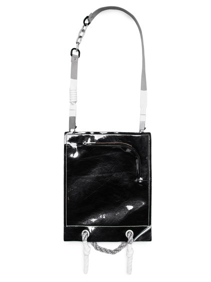 RICK OWENS FW18 SISYPHUS OFF-THE-RUNWAY SECURITY POUCH IN BLACK