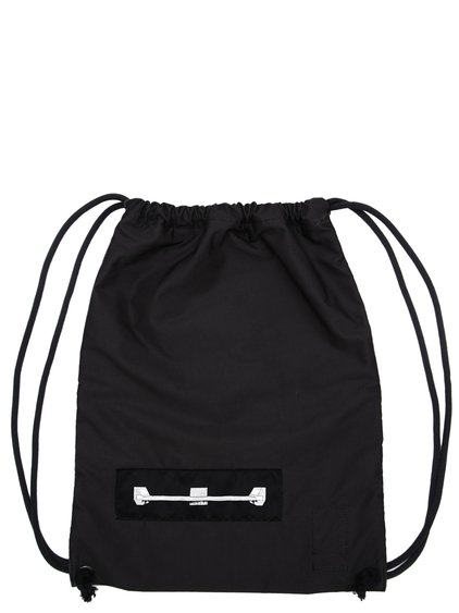 DRKSHDW FW18 SISYPHUS DRAWSTRING BACKPACK IN BLACK