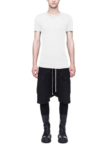 RICK OWENS FW18 SISYPHUS BASIC SHORT-SLEEVE TEE IN MILK WHITE UNSTABLE COTTON