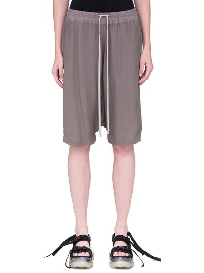 RICK OWENS SS19 BABEL PODS SHORTS IN DNA DUST GREY