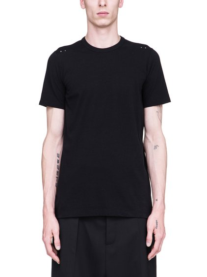 RICK OWENS SS19 BABEL LEVEL TEE IN BLACK COTTON JERSEY