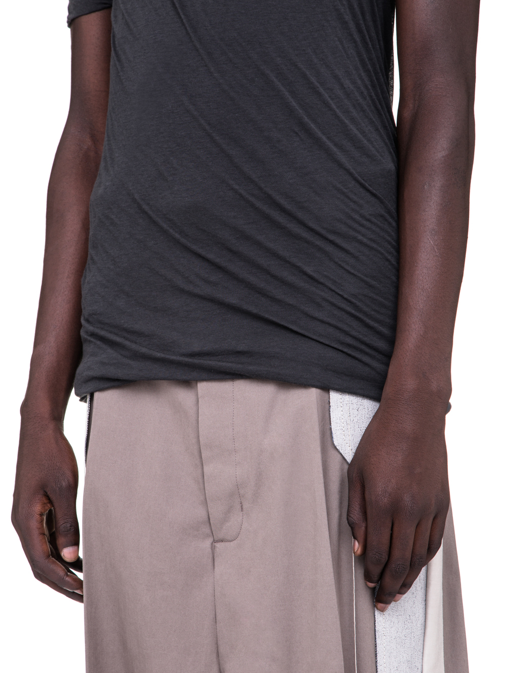 RICK OWENS SS19 BABEL DOUBLE SHORTSLEEVE TEE IN BLUJAY BLUE UNSTABLE COTTON