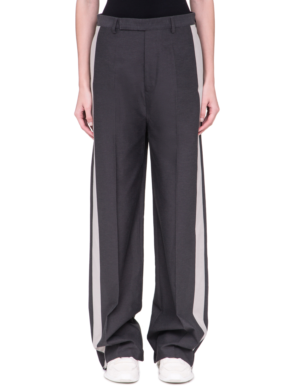 RICK OWENS SS19 BABEL LOOSE TUX TROUSERS IN BLUEJAY