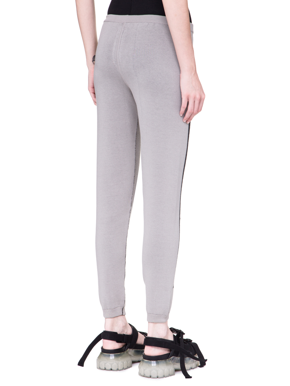 0ea2b53630f RICK OWENS SS19 BABEL PRISONNER DRAWSTRING KNITTED PANTS IN OYSTER LIGHT  GREY