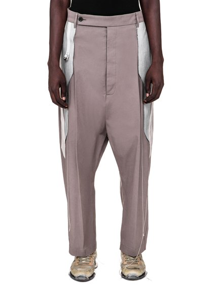 RICK OWENS SS19 BABEL KARLOFF LONG TROUSERS IN DUST GREY