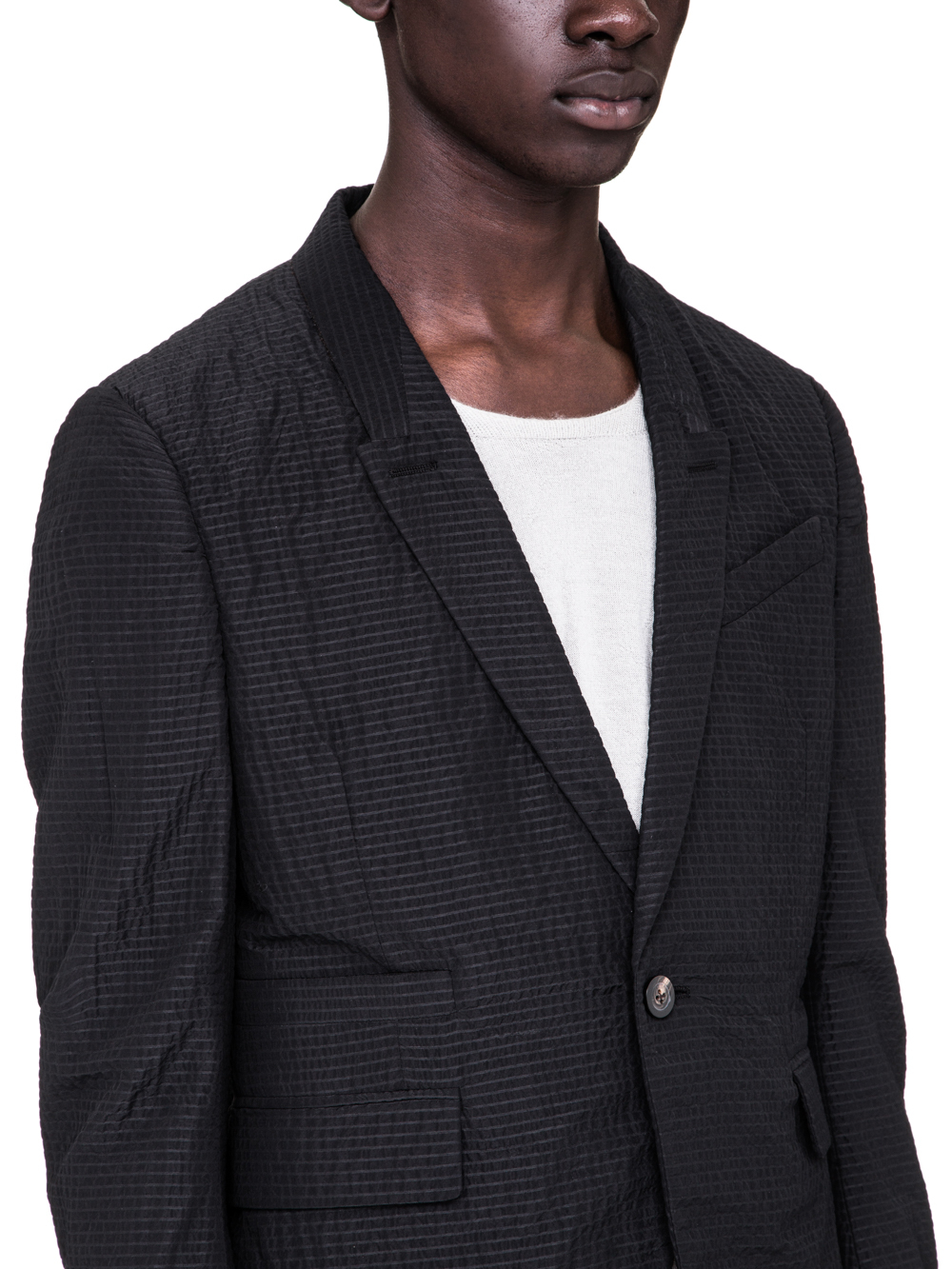 RICK OWENS SS19 BABEL SOFT BLAZER CROPPED IN BLACK