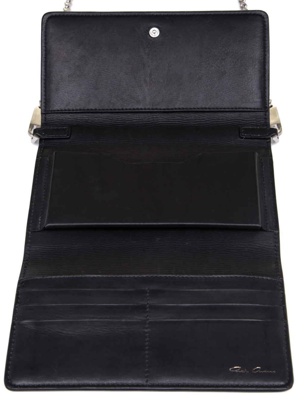 RICK OWENS SS19 BABEL PURSE WALLET IN BLACK BABY CALF LEATHER