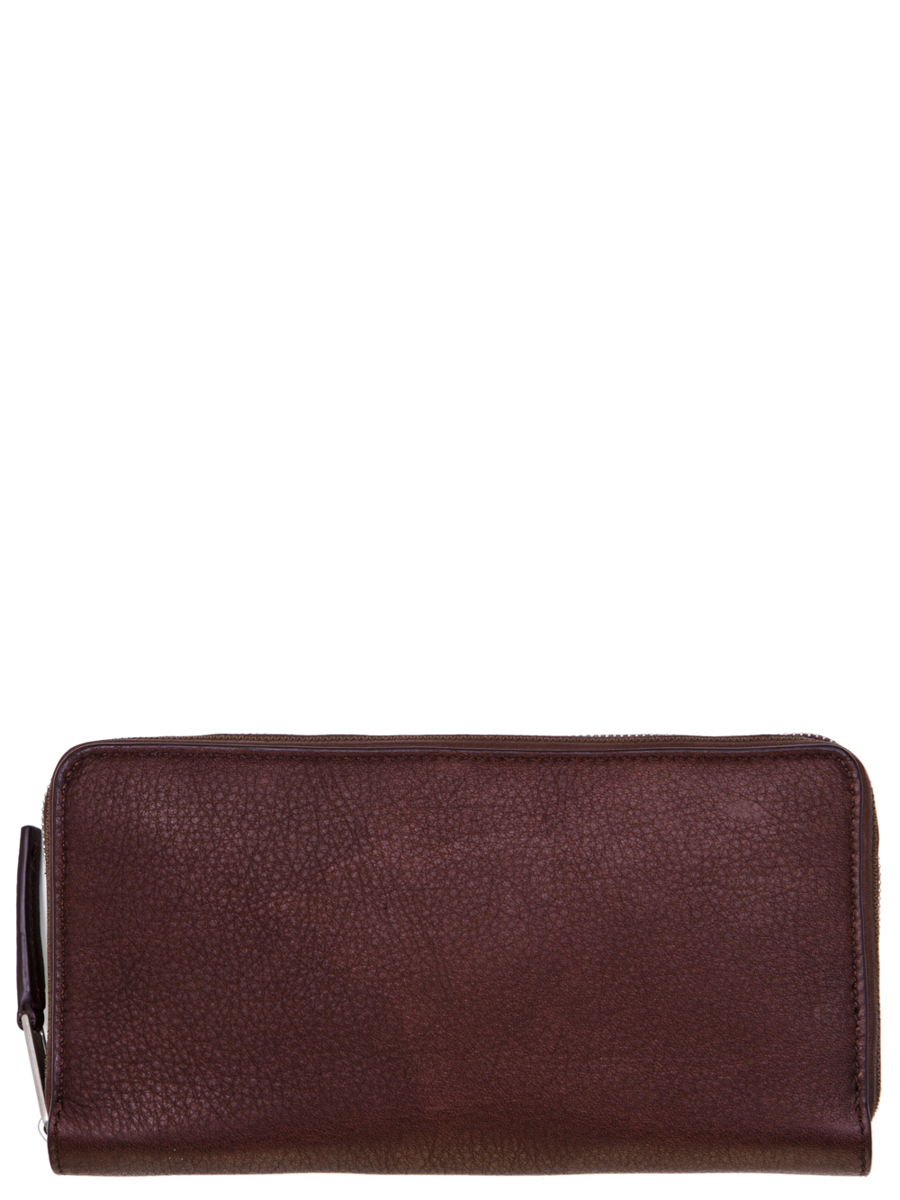 RICK OWENS SS19 BABEL CONTINENTAL WALLET IN BLOOD BROWN CALF LEATHER
