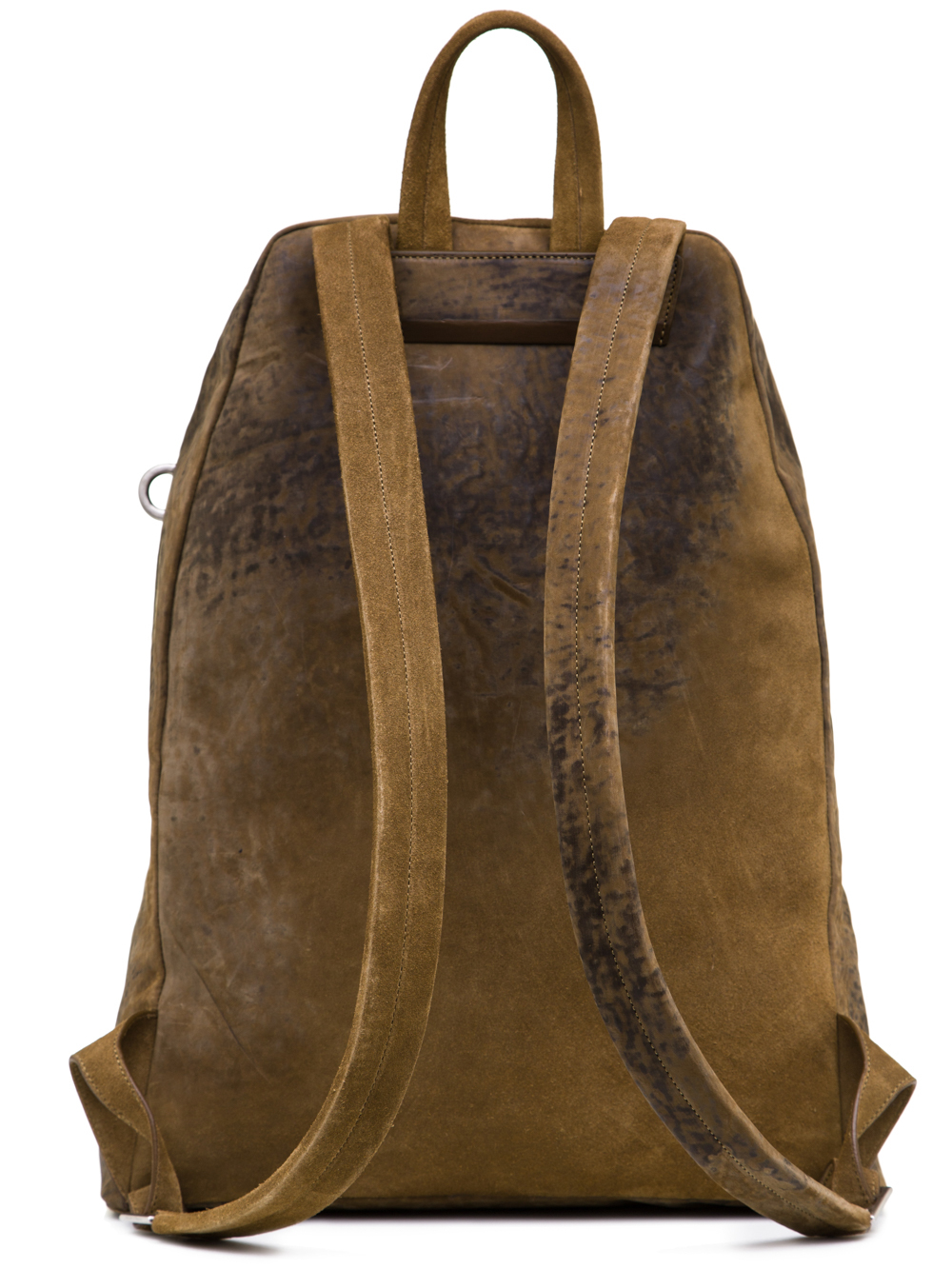 RICK OWENS SS19 BABEL BACKPACK IN MUSTARD GREEN LEATHER