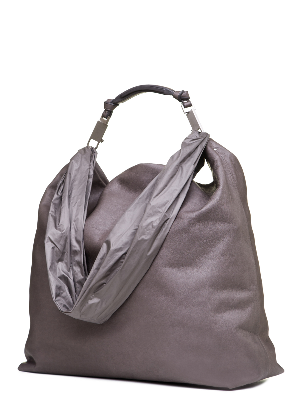 BAG IN DUST GREY CALF LEATHER