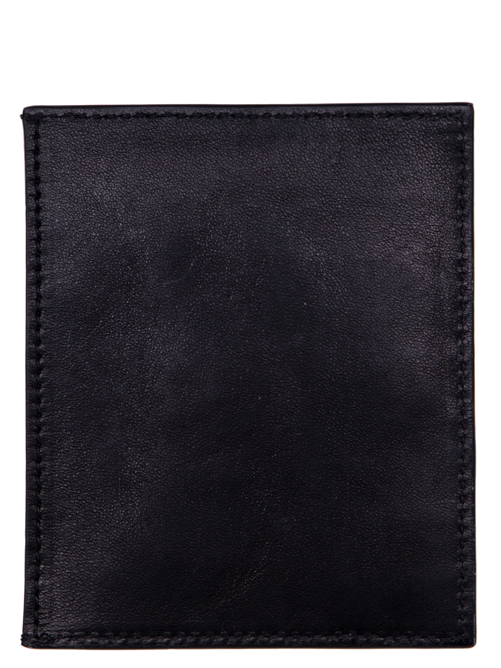 RICK OWENS SS19 BABEL CREDIT CARD HOLDER IN BLACK LEATHER