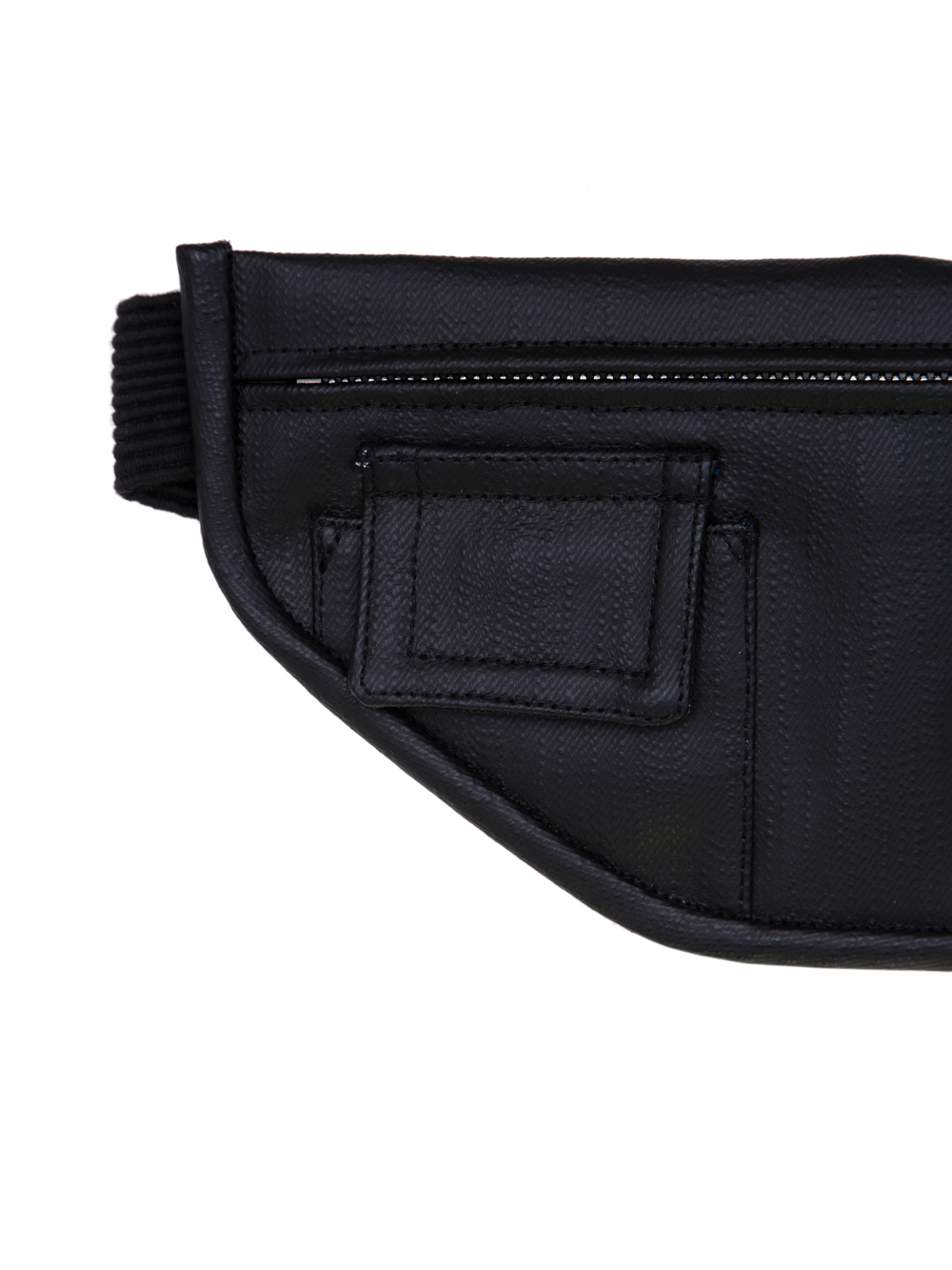 RICK OWENS SS19 BABEL MONEY BELT IN BLACK MATT DENIM