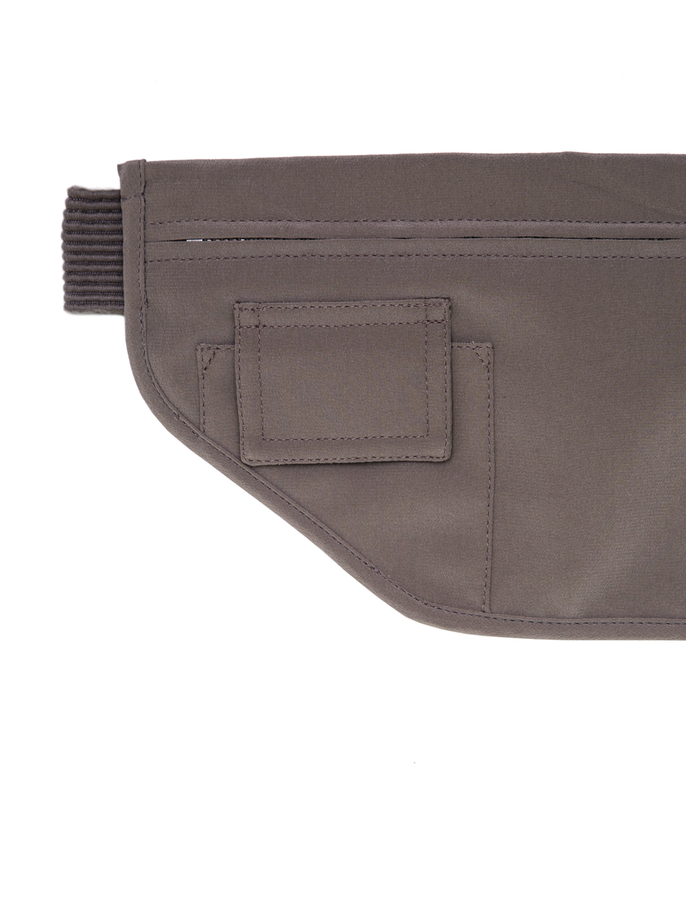 RICK OWENS SS19 BABEL MONEY BELT IN DUST GREY SILK CREPE