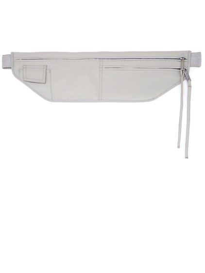 RICK OWENS SS19 BABEL MONEY BELT OYSTER  LIGHT GREY SILK