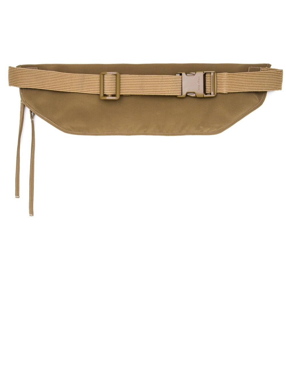 RICK OWENS SS19 BABEL MONEY BELT IN MUSTARD GREEN