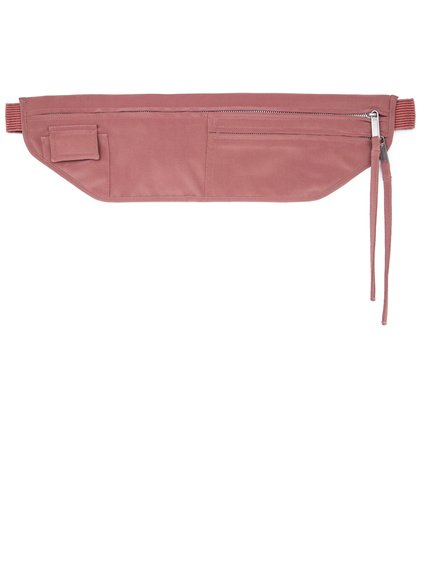 RICK OWENS SS19 BABEL MONEY BELT IN CYCLAMEN PINK SILK