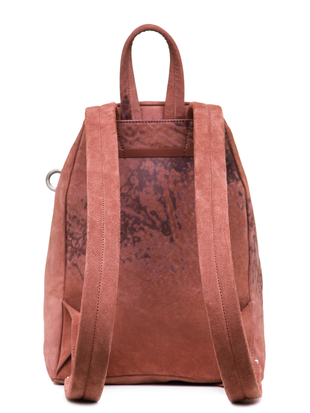 RICK OWENS SS19 BABEL MINI BACKPACK IN CYCLAMEN PINK VEGETAL TANNED HORSE LEATHER