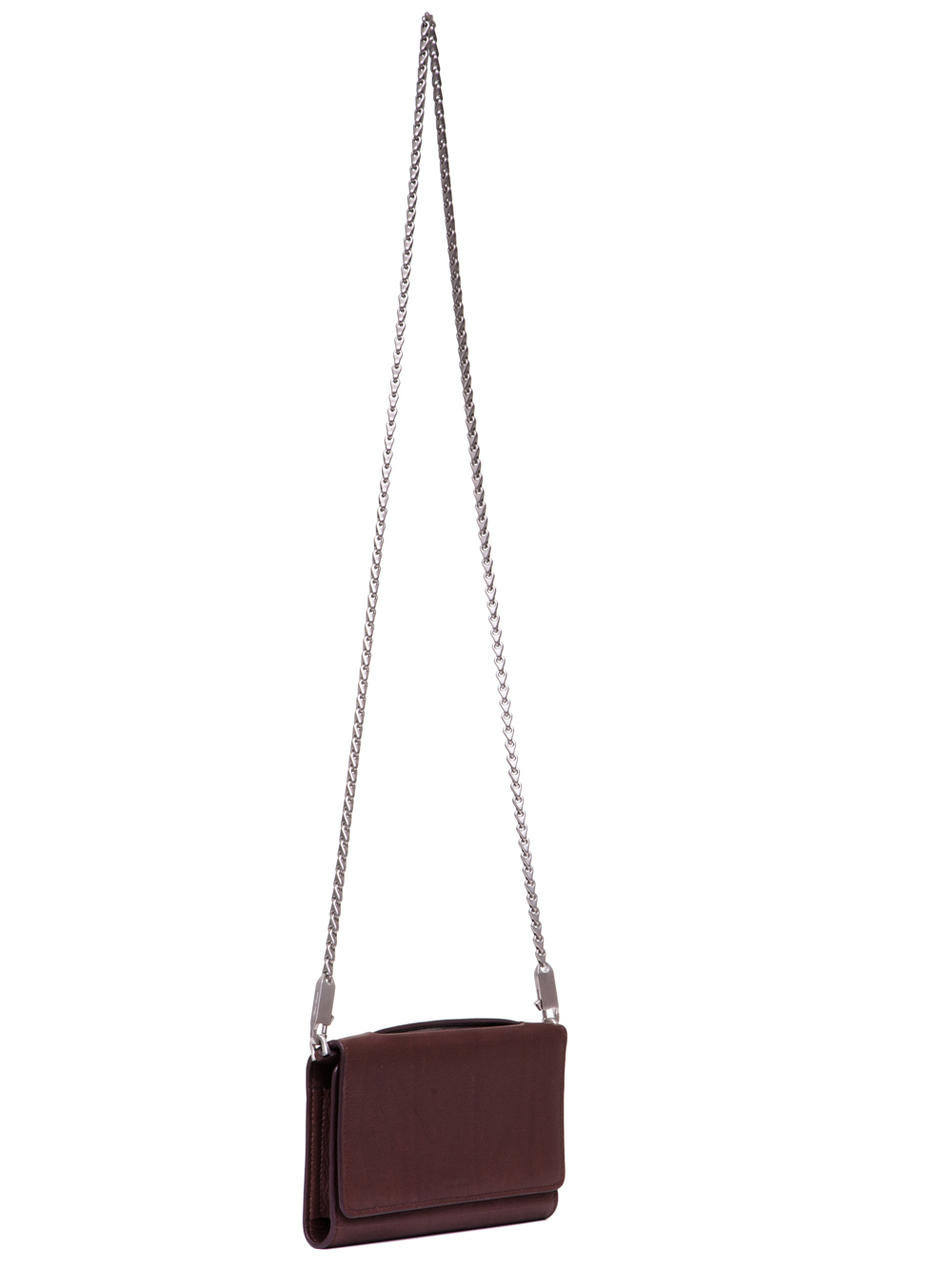 RICK OWENS SS19 BABEL PURSE WALLET IN BLOOD BROWN  CALF LEATHER