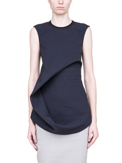 RICK OWENS SS19 BABEL ELLIPSE TOP IN BLUEJAY BLUE