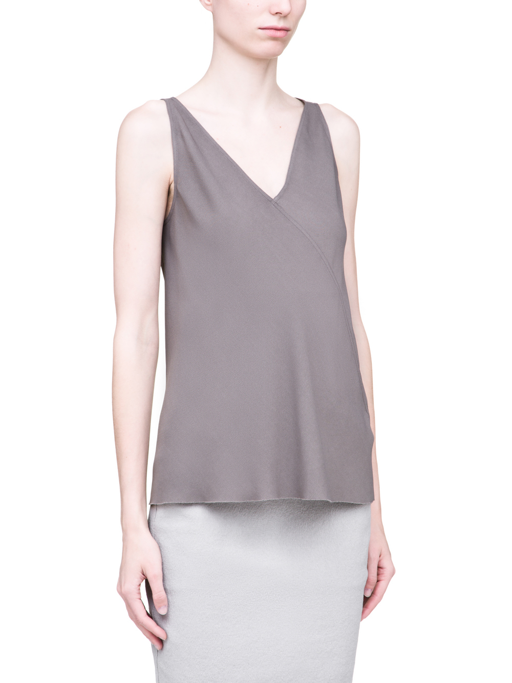 RICK OWENS SS19 BABEL KINGA TOP IN DUST GREY CADY