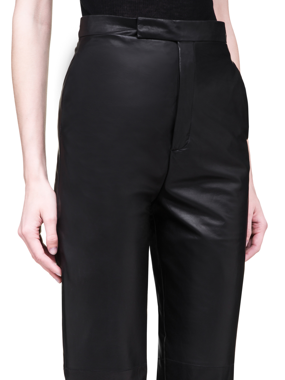 RICK OWENS SS19 BABEL BOLANS TROUSERS IN BLACK