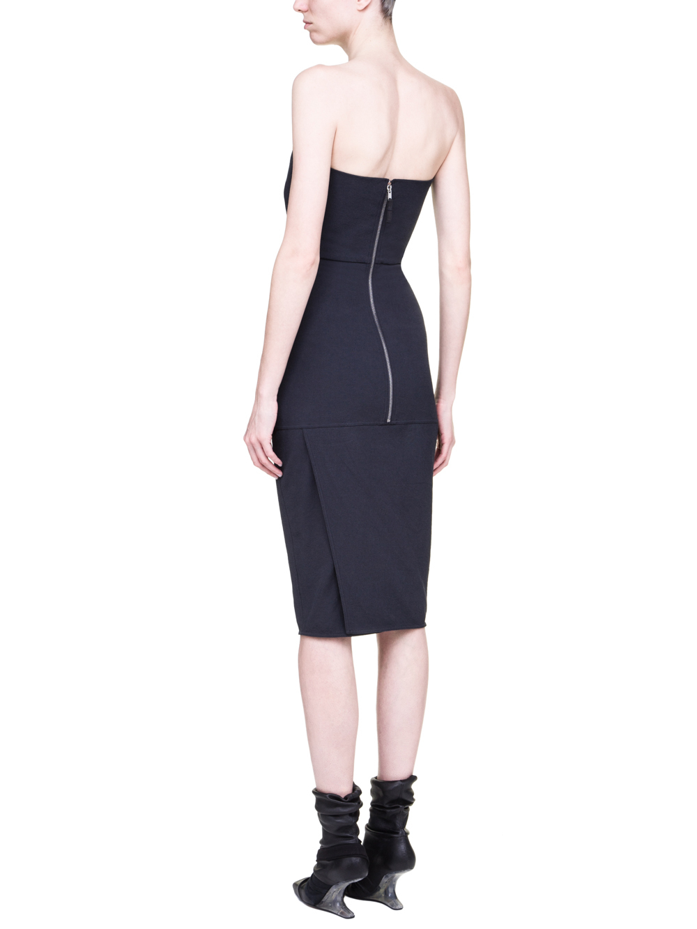RICK OWENS SS19 BABEL BUSTIER DRESS IN BLUEJAY BLUE