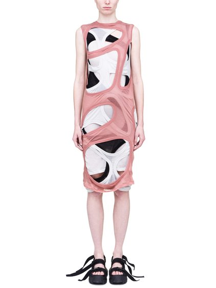 RICK OWENS SS19 BABEL MEGA MEMBRANE DRESS IN LIGHT COTTON