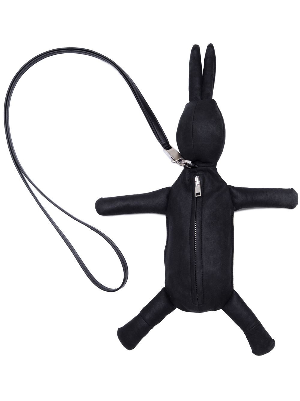 RICK OWENS HUN FAT BUNNY IN BLACK LEATHER