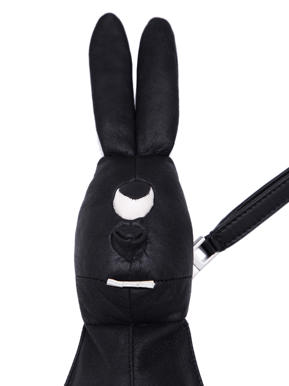 RICK OWENS HUN SIAMESE BUNNY IN BLACK LEATHER