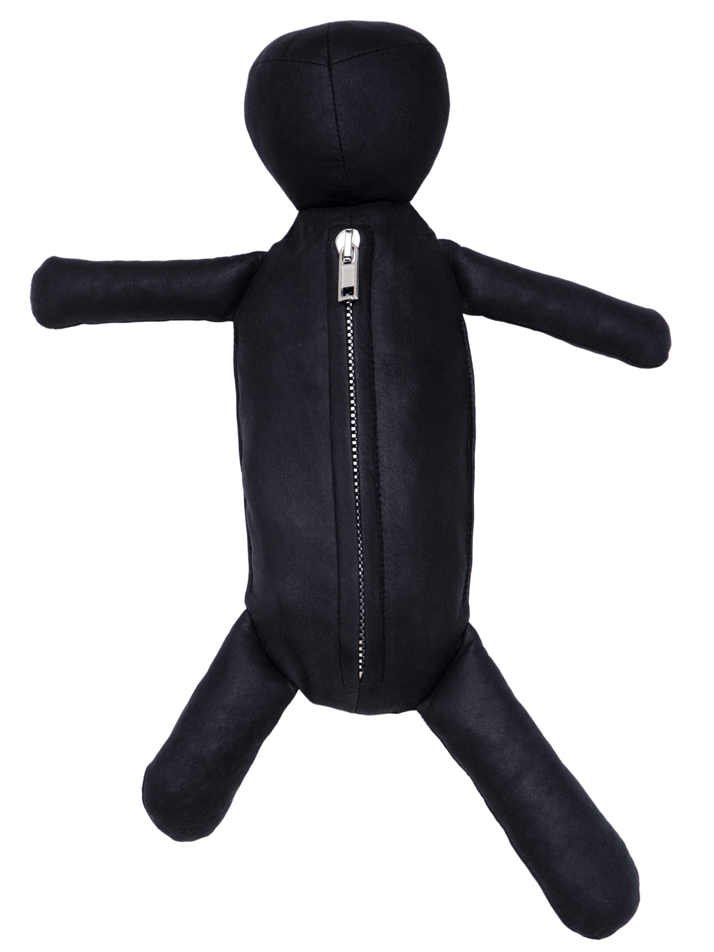 RICK OWENS HUN CYCLOP IN BLACK LEATHER