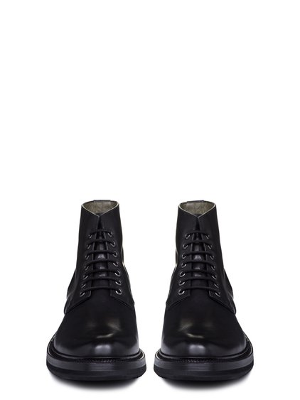 RICK OWENS SS19 BABEL CHUKKA SLIM CREEPER SOLE BOOTS IN BLACK